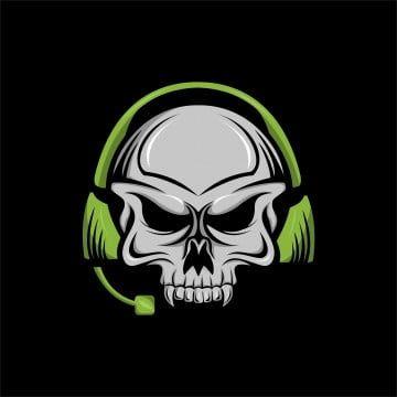 Skull Skull Headphones Vector Illustration Skull