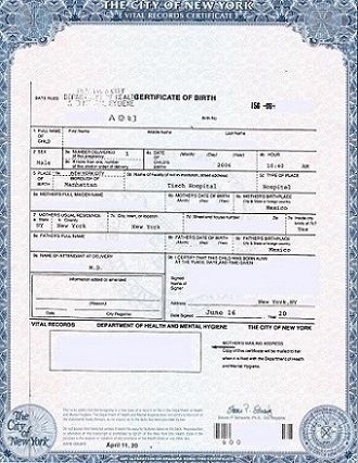 long version of birth certificate