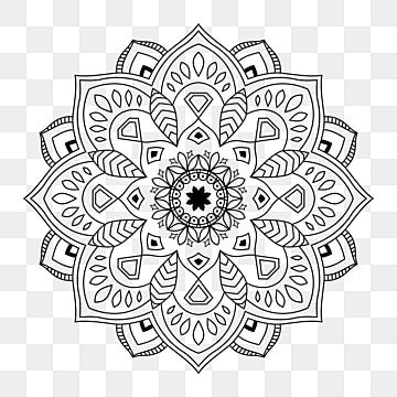Indian Mandala Arabic Islamic Pattern Ornament Black White Mandala Decoration Indian Png And Vector With Transparent Background For Free Download Art Logo Islamic Pattern Arabic Pattern