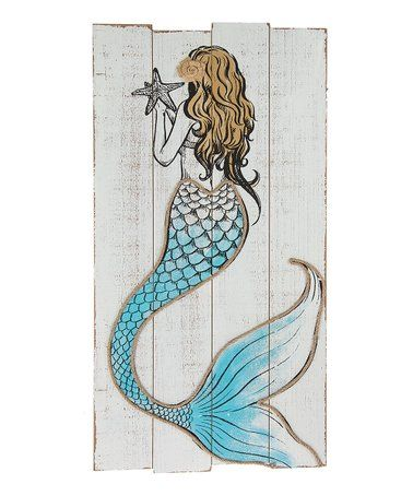 Love This Mermaid Plank Wood Wall Art On Zulily Zulilyfinds