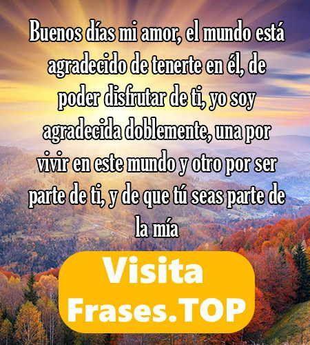 Frasestop Top Frases De Buenos Días Para Mi Amor