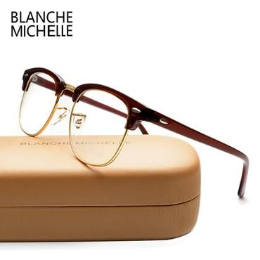 Brown /& Gold Classic Retro Fashion Glasses Full UV400 non Optical Clear Lens