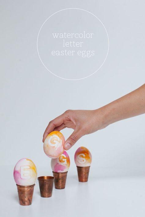 Watercolor letter eggs