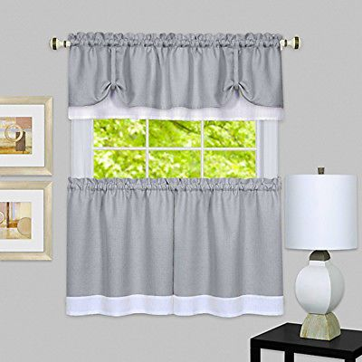 Kitchen Curtains Set Dining Room Window Curtains Set Gray And