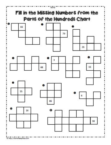 Pieces Of The 100 Chart Hundreds Chart 100 Chart Math Prep Adding on hundreds chart worksheets