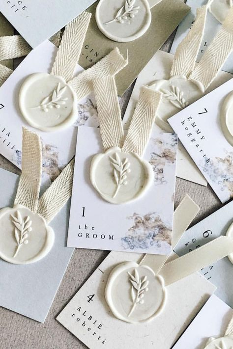 Wax seals are incredibly popular wedding stationery additions. Here are our favourite suppliers. Spring Wedding Invitations, Diy Wedding Favors, Wedding Souvenir, Wedding Decorations, Seal Craft, Custom Stamps, Custom Wax Seal Stamp, Wedding Stationery Inspiration, Seal Design