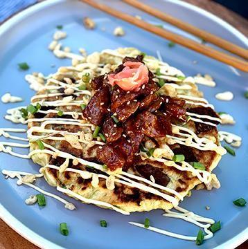 Okonomiyaki With Miyazakigyu Wagyu Beef Cubes Health Dinner Recipes Aesthetic Food Tasty Pancakes