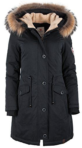 Arctic Damen Parka Schwarz mit Verkauf Daunenmantel TARORE dBsrtCxQh
