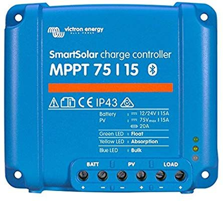 Victron Smartsolar Charge Controller With Built In Bluetooth Mppt 75 15 75 Volts 15 Amps Solar Energy Solar Power System