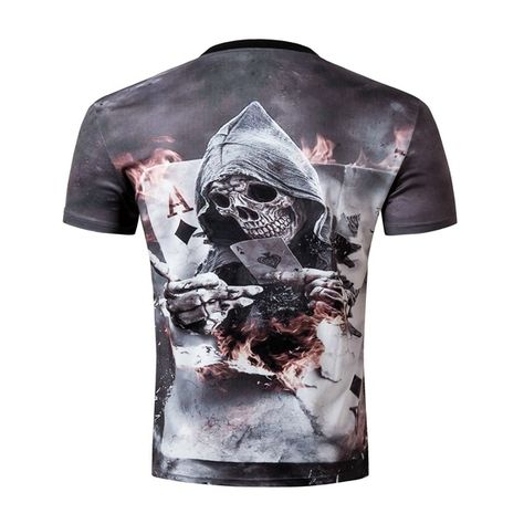 Men Fashion Cool 3D Funny Human Skeleton Short Sleeve T-shirt tops men/'s blouse
