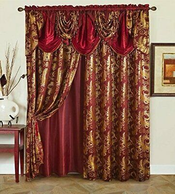 Design And Structure Includes 2 Panels Attached Can T Be Seperated Easy To Install Design Featuring Rod Luxury Curtains Victorian Curtains Elegant Curtains