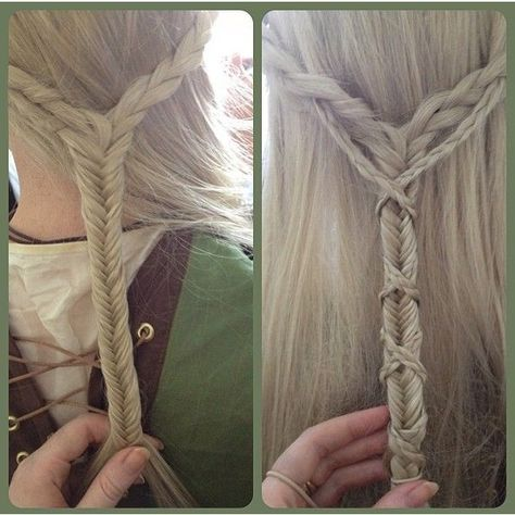 English Accent Braids (Hair and Beauty Tutorials) English accent braids criss-crossed over a fishtai Beauty Tutorials, Beauty Hacks, Hair Tutorials, Pretty Hairstyles, Braided Hairstyles, Elven Hairstyles, Wedding Hairstyles, Updo Hairstyle, Hair Day