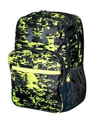 Under Armour Youth Boys Athletic Multi Purpose School Backpack Black//Green NWT
