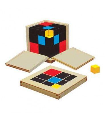 Cubo De Trinomio Materiales Montessori Cubos Cajas De Madera