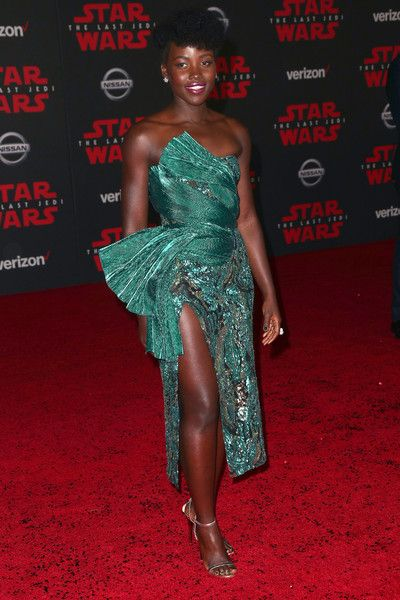 Lupita Nyong'o attends the premiere of Disney Pictures and Lucasfilm's 'Star Wars: The Last Jedi.'