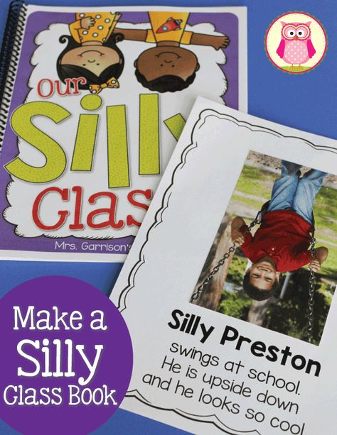 Silly Upside Down Class Book Template