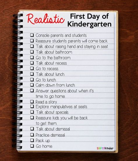 What To Plan on The First Day of Kindergarten! - Simply Kinder
