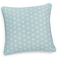 Funda De Cojin De Algodon Cushion Cover Blue Cushions Cushions