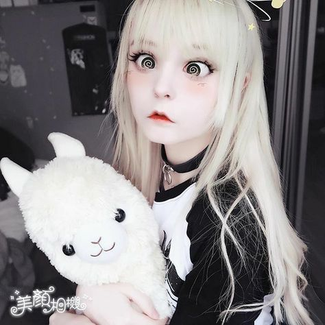Cosplay I love this filter don't judge me ; (the app is called BeautyCam) -