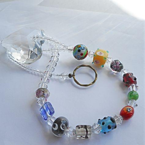 Stylish! 2 x Decorative Christmas Hanging Gems//Beads Green Approx 55cm Long