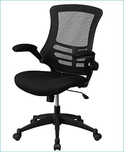 Mid Back Black Mesh Swivel Task Chair Comfortable Padded Seat Dual