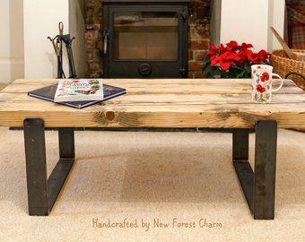 Industrial Coffee Table Legs Etsy Rustic Coffee Tables Coffee Table Legs Table