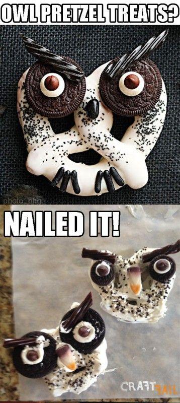 Haunted Hooting Owl Pretzels nailed it