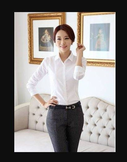 Baju Kemeja Putih Wanita