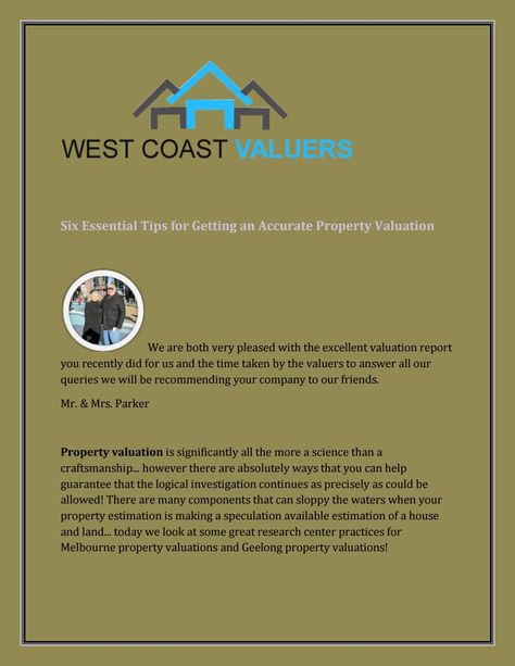Six essential tips for getting an accurate property valuation - property valuation report