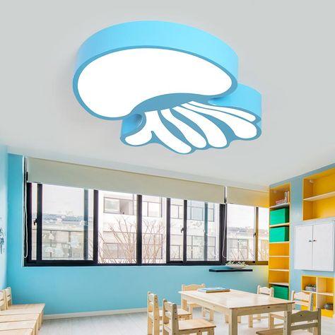Gradation Progressive, Bordure bleue 45 * 5cm Plafonnier LED Forme d/étoile Lampes chambre enfants Lampe de plafond Salle de s/éjour chambre salle de jeux 36W