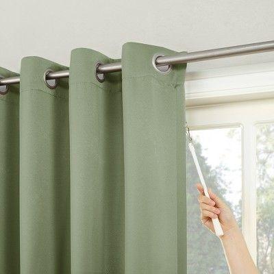 84 X100 Kenneth Extra Wide Blackout Grommet Top Door Curtain