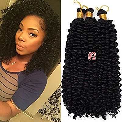 Amazon Com Synthetic Water Wave Bundles Curly Crochet Hair