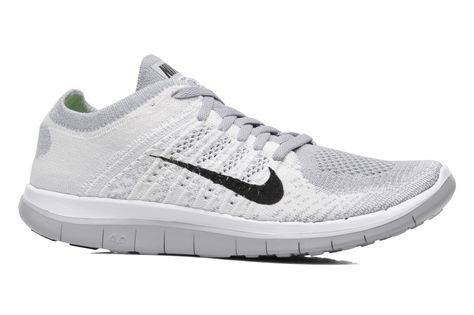 Nike Nike Free 4.0 Flyknit Sport shoes in White at Sarenza