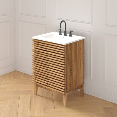 Wigington 23 5 Single Bathroom Vanity Joss Main In 2020 Single Bathroom Vanity Bathroom Vanity Teak Bathroom