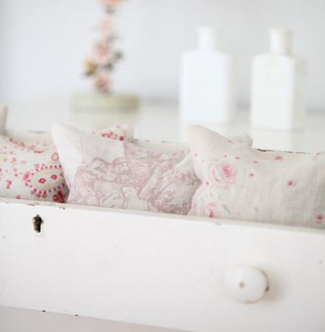 pretty pillows in a drawer - why not?