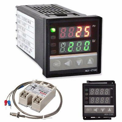 Details About Lcd Pid Rex C100 Temperature Controller Set K Thermocouple Max 40a Ssr 2020 U0b4 In 2020 Temperature Control Digital Temperatures