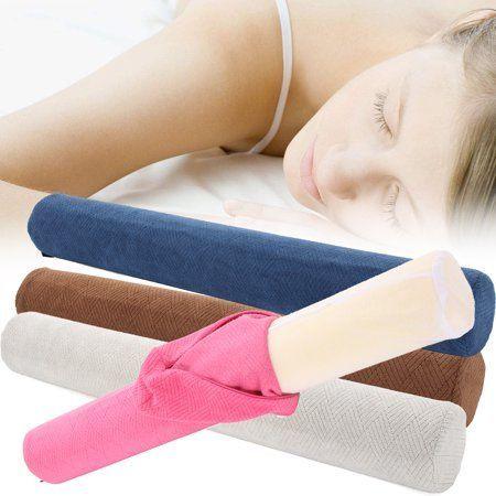 Moaere Comfort Memory Foam Neck Roll Pillow Lightweight Round Cervical Support Bolster For Spine And Neck Back Su Cervical Pillows Neck Roll Pillow Roll Pillow
