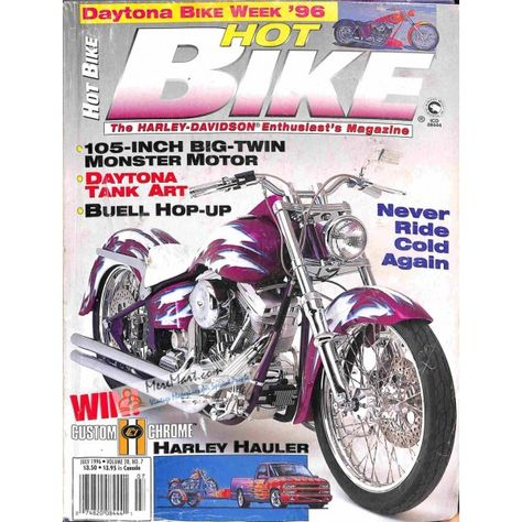 Cover Print Of Hot Bike July 1996 Bike Magazine Hot Bikes Bike