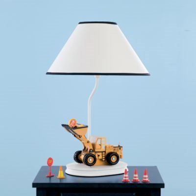 Construction Table Lamp with Matching Night Light | Groovy Kids ...