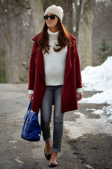 burgundy @sheinsider cardigan coat #pregnancystyle