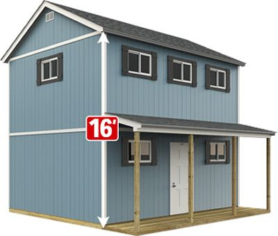 The Tr 1600 Boasts The Most Usable Floor Space And Cubic Square Feet Of Any Tuff Shed Sundance Series Shed House Plans Shed To Tiny House Home Depot Tiny House