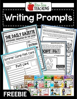 Monthly Writing Prompts | Narrative, Informative, & Opinion | PDF & GOOGLE