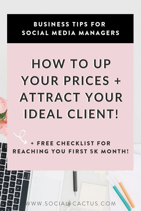Learn how to price your social media management packages so that you can work less and earn more! We dive into money mindset and how to attract high paying clients to grow your social media management business. Click through to watch the video training, read the blog and grab your free checklist to help you reach 5k consistent months! #socialmedia #socialmediatips #socialmediabusiness