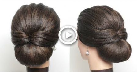 New Simple Bridal Hairstyle For Long Hair Easy Wedding Updo Easy Bun Hairstyles Girls Hairstyles Easy Easy Hairstyles