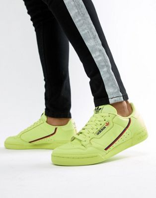 adidas Originals Continental 80's Sneakers In Yellow B41675