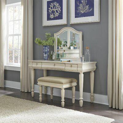 Astoria Grand Warlick Bathroom Vanity Mirror Finish Rustic White