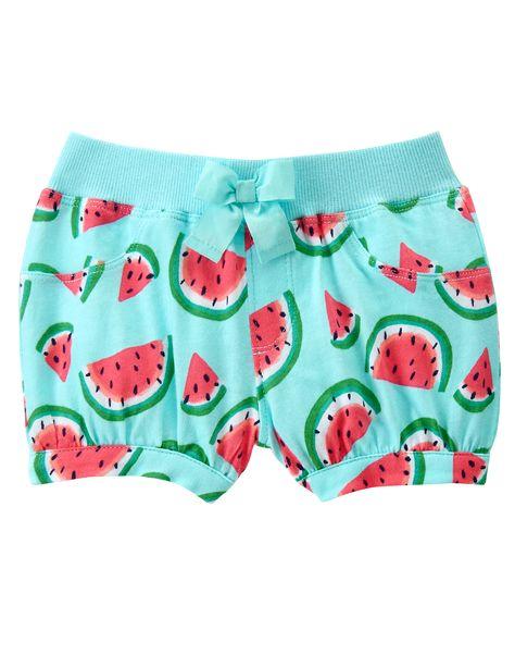 Gymboree Baby Girl Watermelon Ruffle Shorts 3-6 Months