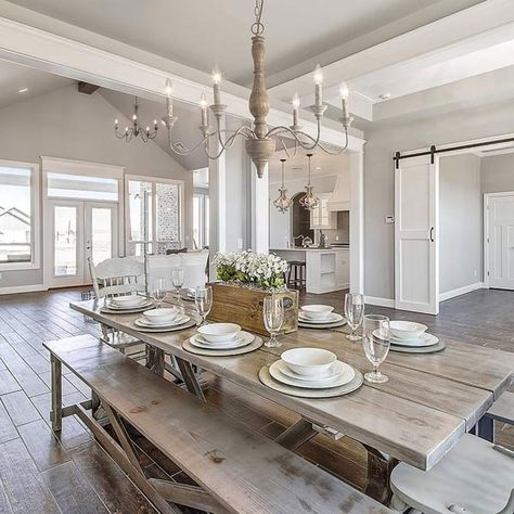 The Gray Barn Blueberry Butte French Country 6 Light Belgian White Chandelier In 2020 Country Dining Rooms Dining Room Design French Country Kitchens