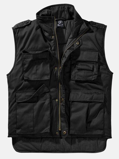 Original Brandit Ranger Vest Outer fabric: 80% polyester, 20% cotton, lining: 100% cotton, padding: 100% polyester