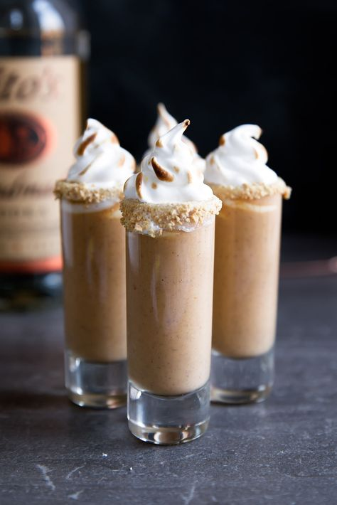 Pumpkin pie gets a delicious twist in these Boozy Pumpkin Pie Shooters!